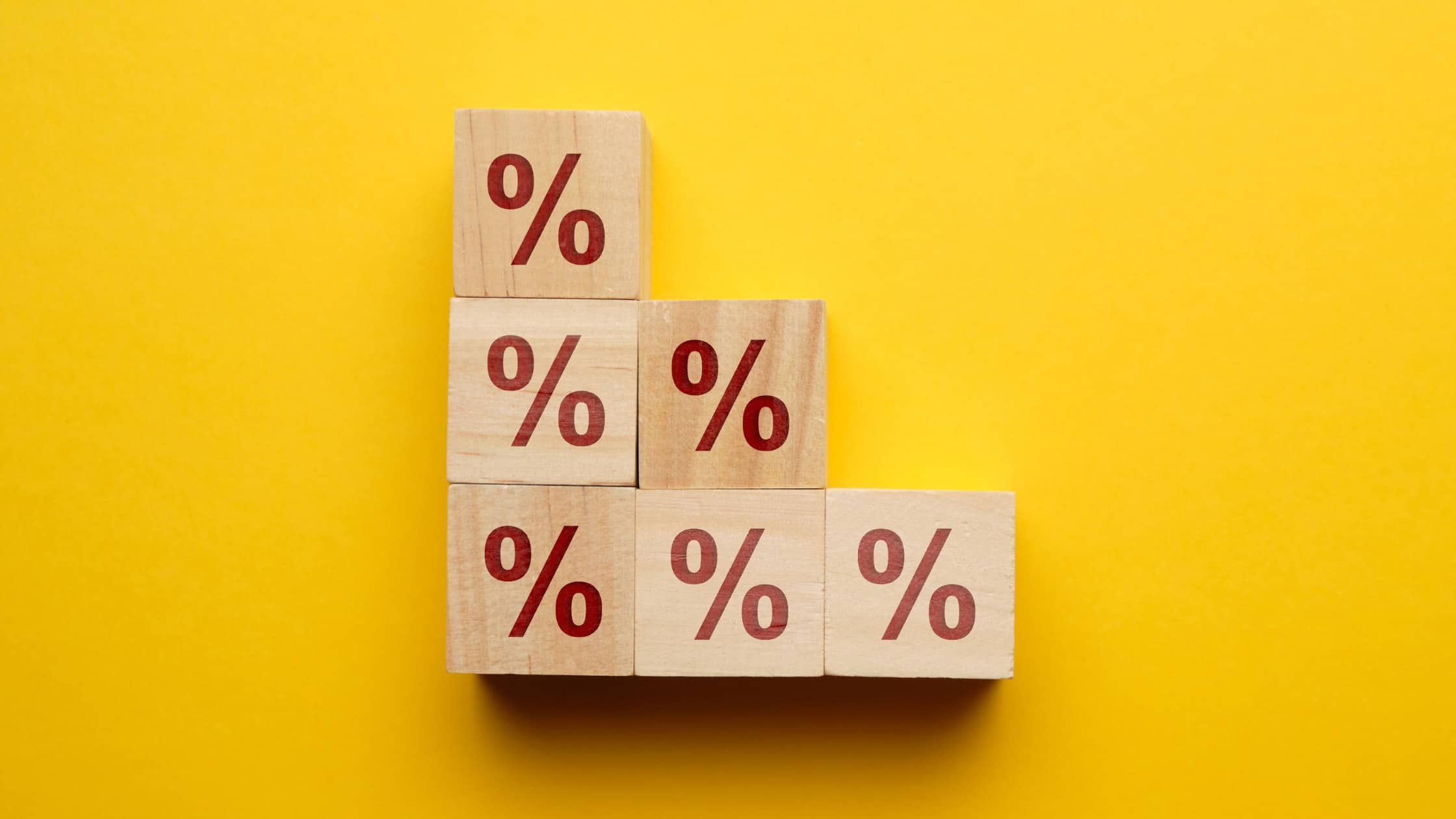 Interest rate blocks stacked